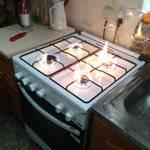 Новата газова фурна и печка е инсталирана